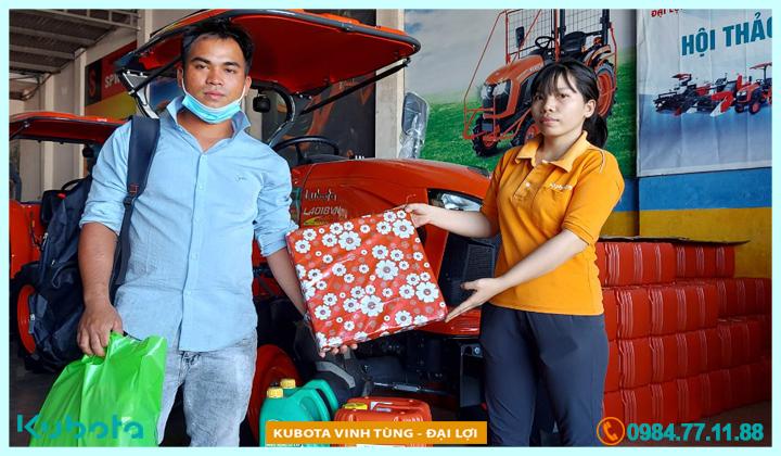 Người đầu tiên tại An Lão - Bình Định mua máy Kubota L4018 mới